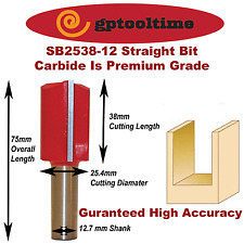 """Router Bit Straight 1 Inch Cut Dia Cut Length TCT  1-1/2""""  (Pack Of 2)"""