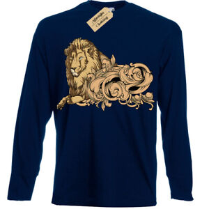Majestic Lion T-Shirt Mens Long Sleeve