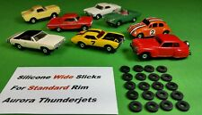 ☆20 Wide Silicone Tires☆ For Aurora Afx Model Motoring T-Jet Ho slot car parts
