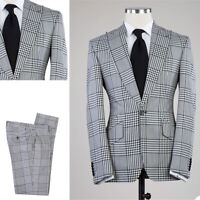 Men Suits Regular Single Breasted Wedding Business 2Pcs Coat Pants Set Tailored