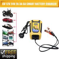 6V/12V/24V Battery Charger Smart Charge Car ATV 4WD Boat Caravan Motorcycle AU