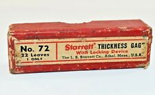 Starrett No72 Thickness Gage With 22 Leaves 004 To 025 L4b