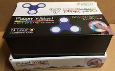 (24) New LED Light Up Hand Spinner Tri Fidget Toy