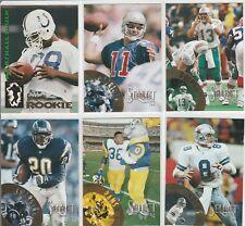 1994 Select (6 Card LOT ) Marshall Faulk RC Marino Aikman Bettis