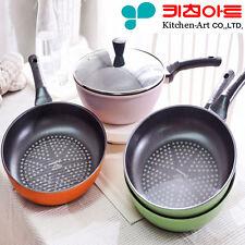 [Kitchen Art] Premium Frying pan Diamond coating Nonstick Cookware Lid 4 set D