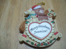 Merry Christmas Jasmine Personalize Fridge Magnet Tree Ornament Jeane's Things