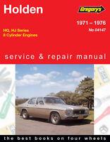 Holden HQ, HJ V8 1971-1976 Repair Manual