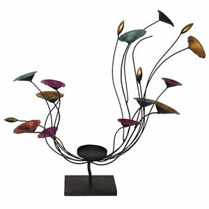 Swingy Flowery Candle Holder,Multicolored