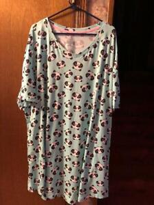 Valentine's Day panda bears nightshirt SIZE IS 2X-3X, - NEW.