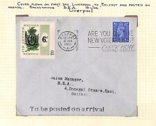 DBAp194 1951 BEA *Airway Letter Service* Set Stamps & BELFAST Cover/Album page