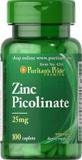 Puritan's Pride Zinc Picolinate 25 mg - 100 Caplets (free shipping)