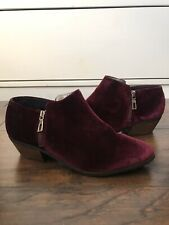 Very Volatile Selma Velvet Ankle Booties In Deep Berry Color Size 9