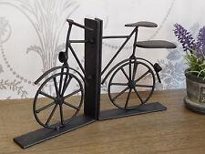 Noir Shabby Vintage Vélo Serre-livres Bike Book Ends industriel Chic Home Decor