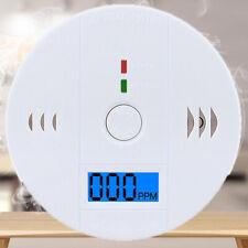 Detector de Humo CO Alarma Monóxido de Carbono Pantalla LED de seguridad estable Gas Sensor
