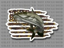 American flag Catfish Channel Cat Flat Head fishing sticker decal