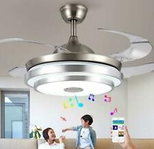 "36""/42"" Remote Chandelier Invisible Ceiling Fan LED Light+Bluetooth Music Player"
