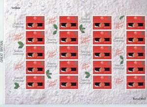 Royal Mail 2001 Christmas 'Consignia' set of 2-Complete sheets  FREE UK POSTAGE