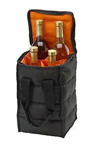 Wine Carrier Tote Bag - Carry up to 4 Bottles of Wine to Beach or Picnic.