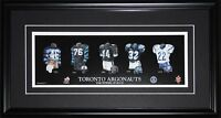 Toronto Argonauts CFL Football Jersey Evolution CFL Football Collector Frame