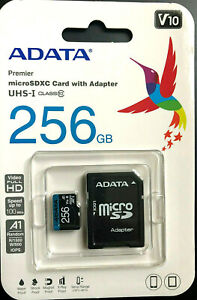 Original 256GB Micro SD Card Memory TF Class 10 Premier with Adapter SDXC/SDHC