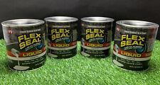 LOT OF 4 Flex Seal Liquid - Liquid Rubber Sealant Coating - Jumbo 32oz (White)