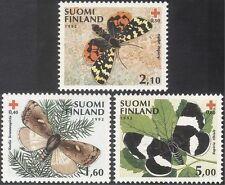 Finland 1992 Red Cross/Braille/Butterflies/Moths/Medical/Blind 3v set (b9602)
