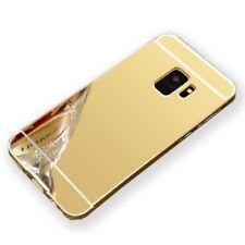 Mirror Alu Bumper 2teilig Gold für Samsung Galaxy S9 G960F Tasche Hülle Case Neu