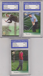 Lot of 3 - 2001 - Mike Weir, Andy Bean, Chris Perry - GRADED GEM MINT 10!!!