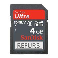 10 Pcs SanDisk 4GB SD ULTRA 30MB/S MEMORY CARD SDHC CLASS 6 SDSDU-004G + case