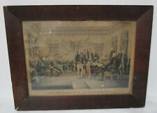 Antique 1840's Currier and Ives Declaration of Independence Print Original