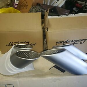 LAMBORGHINI HURACAN EXHAUST MUFFLER TIPS OEM 4T0071910 pair with original boxes