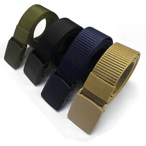 Fashion Outdoor Casual Military Tactical Polyester Waistband Canvas Web Belt