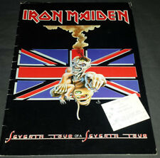 Iron Maiden:1988 Seventh Son U.K. Tour Book/Program+1987 Ticket Stub