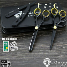 Professional Barber Hair Cutting/Thinning Scissors Shears Set Hairdressing Salon
