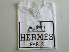 Unisex fit Paris Men Women White t-shirt. Size S, M, L, XL