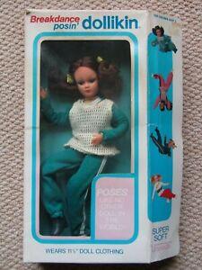 Vintage Action Girl Dollikin Uneeda Doll Rare Breakdance Posin Boxed
