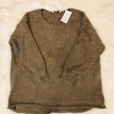 NWT Soft Surroundings Women's Plus 3X Eyelash Mocha Brown Metallic Sweater