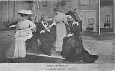 Music Master Play David Warfield and Ladies Antique Postcard J45872