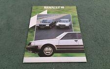 1983 1982 RENAULT 18 SALOON ESTATE UK BROCHURE TURBO TL GTL GTD TS TX GTX AUTO