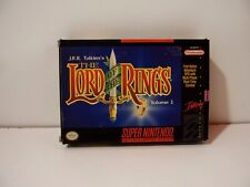 The Lord of the Rings Volume 1 Nintendo Super NES SNES US
