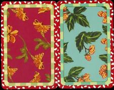 BEAUTIFUL FLOWERS SWAP CARD PAIR WITH PATTERNED BOARDER (NEW)