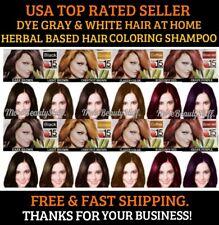 DARK BROWN PERMANENT HAIR DYE SHAMPOO COLOR GRAY&WHITE HAIR 10 COLORS WOMEN&MEN