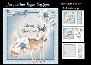 Christmas Kits 03 Decoupage 3 x A4 Sheet NOT DIE-CUT