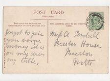 Miss A Sendall Beeston House Beeston Nottinghamshire 1905 718a