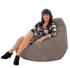 JUMBO CORDUROY Gamer Chair Bean Bag Highback Gaming Beanbag Seat lounger Gilda