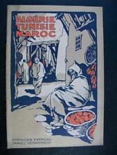 ALGERIE TUNISIE MAROC - AMERICAN EXPRESS TRAVEL DEPARTMENT - 1921-1922