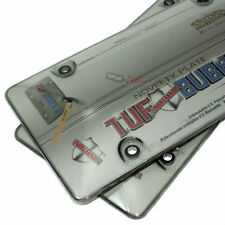 2 Smoke Tinted Tough Bubble License Plate Frame Cover Shields for Auto-Car-Truck