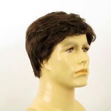Perruque homme 100% cheveux naturel châtain ref DAVID 6spw