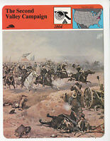 THE SECOND VALLEY CAMPAIGN 1864 Shenandoah Virginia Sheridan STORY AMERICA CARD