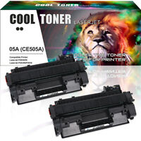 2PK Compatible for HP 05A CE505A Toner Cartridge LaserJet P2055dn P2035n P2050